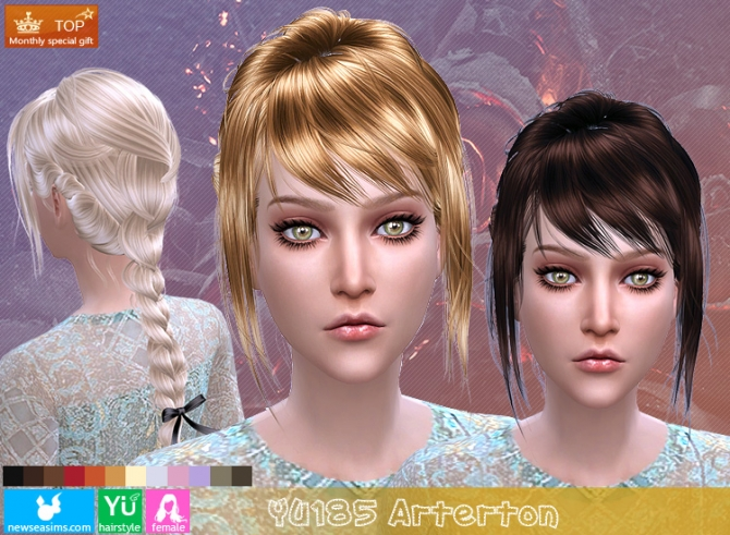 Hairstyles Updates: YU185 Arterton Hair (PAY) At Newsea Sims 4 » Sims 4 Updates