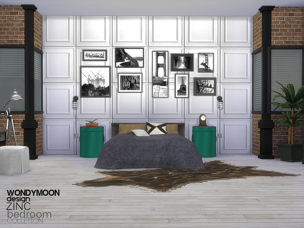Sims 4 Zinc Bedroom by wondymoon at TSR