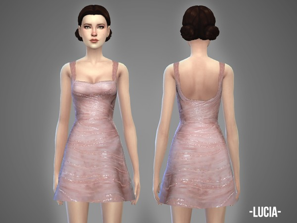 Sims 4 Lucia dress by April at TSR