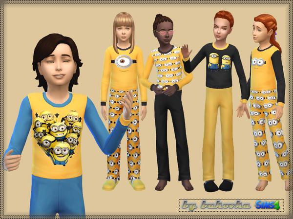 Sims 4 Sleepwear Minions by bukovka at TSR