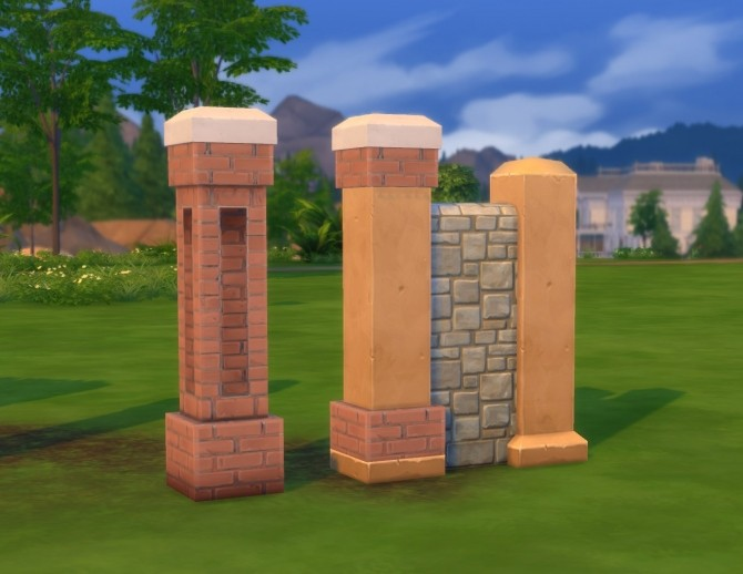 Stonework Fencepost by plasticbox at Mod The Sims image 5226 670x518 Sims 4 Updates