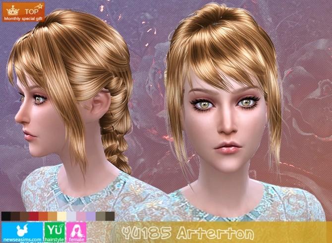 Sims 4 YU185 Arterton hair (PAY) at Newsea Sims 4