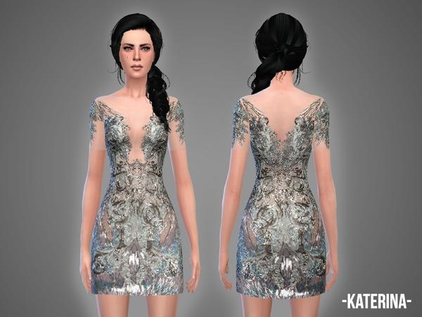 Sims 4 Katerina dress by April at TSR
