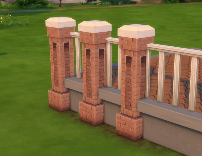 Stonework Fencepost by plasticbox at Mod The Sims image 5324 670x518 Sims 4 Updates