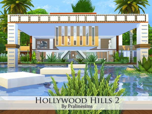 Sims 4 Hollywood Hills 2 house by Pralinesims at TSR