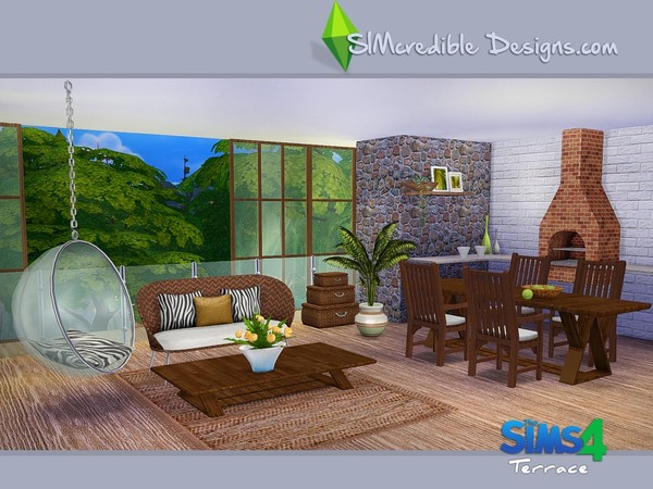 Terrace Dining Set By SIMcredible At TSR