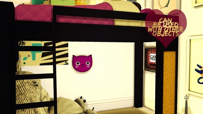 Loft Bed Set at DreamCatcherSims4 image 545 670x377 Sims 4 Updates