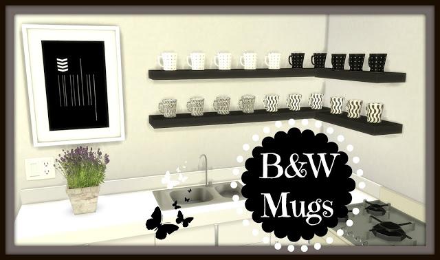 B&W Mugs at Dinha Gamer image 5510 Sims 4 Updates