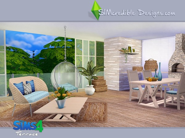 Terrace dining set by SIMcredible! at TSR image 5511 Sims 4 Updates