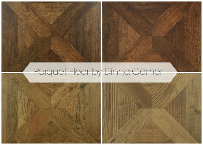 Sims 4 Parquet Wood Floor at Dinha Gamer