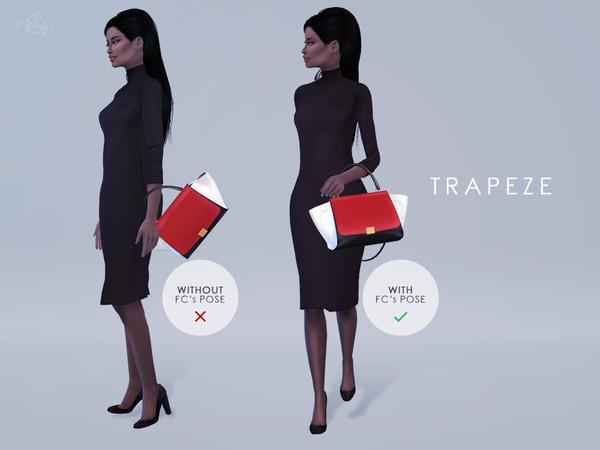 Sims 4 Handbag TRAPEZE by starlord at TSR