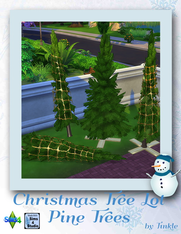 Christmas Lot Pine Trees at Tinkerings by Tinkle image 555 Sims 4 Updates