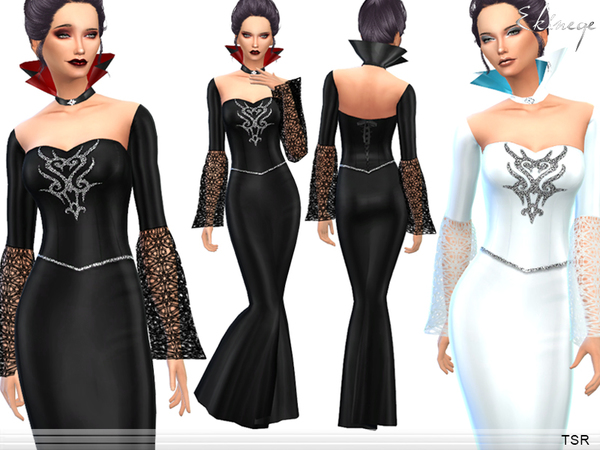 Sims 4 Halloween Queen Dress by ekinege at TSR