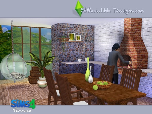 Terrace dining set by SIMcredible! at TSR image 5610 Sims 4 Updates