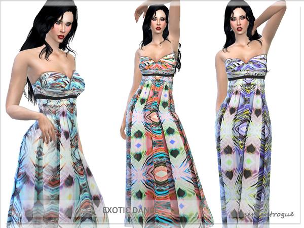 Sims 4 Exotic Dance dress by Serpentrogue at TSR