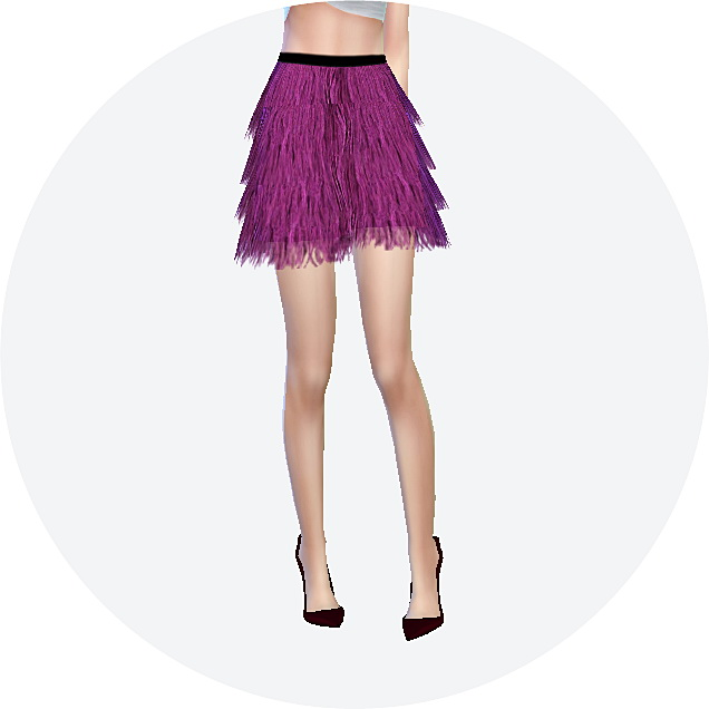 Sims 4 Feather skirt at Marigold