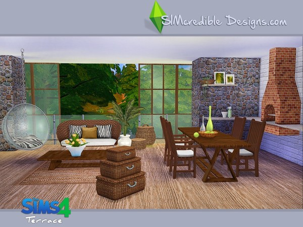 Terrace dining set by SIMcredible! at TSR image 5710 Sims 4 Updates