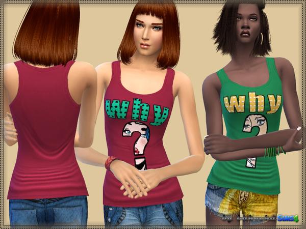 Sims 4 Why Top by bukovka at TSR