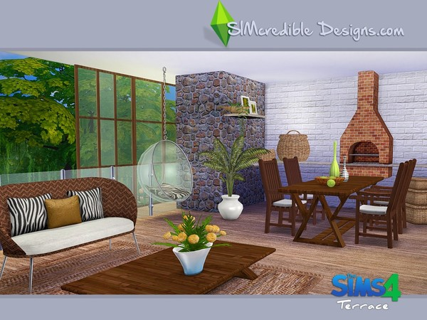 Terrace dining set by SIMcredible! at TSR image 5810 Sims 4 Updates