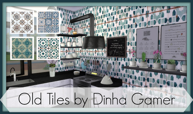 Sims 4 Old tiles at Dinha Gamer