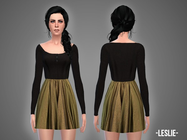 Sims 4 Leslie outfit by April at TSR