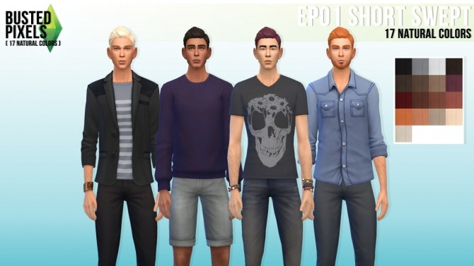 Sims 4 EP01 short Swept hair recolors at Busted Pixels
