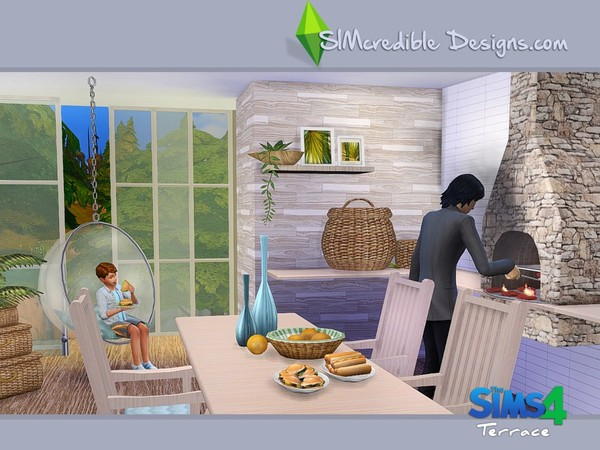 Terrace dining set by SIMcredible! at TSR image 5911 Sims 4 Updates