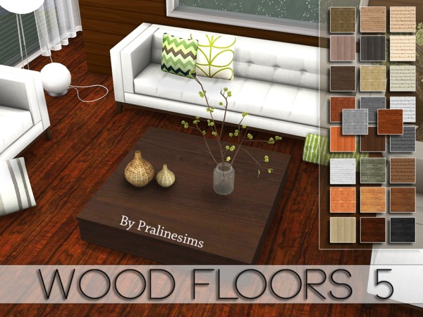 Sims 4 Wood Floors 5 by Pralinesims at TSR