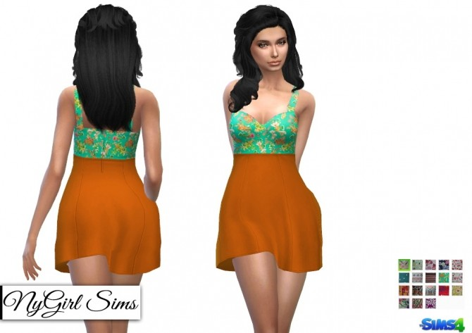Sweetheart Skater Dress in Prints at NyGirl Sims image 5920 670x473 Sims 4 Updates
