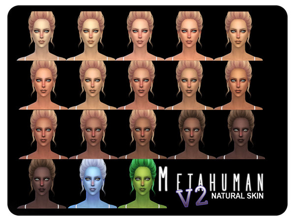 Sims 4 Metahuman V2 Natural Skin F by Screaming Mustard at TSR
