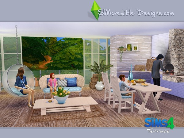 Terrace dining set by SIMcredible! at TSR image 6011 Sims 4 Updates
