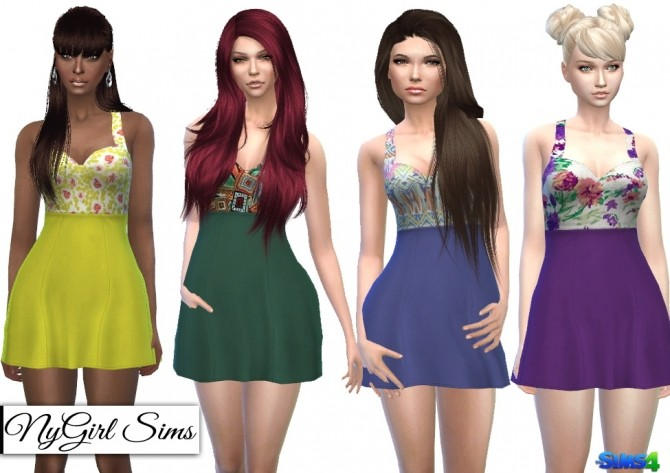 Sweetheart Skater Dress in Prints at NyGirl Sims image 6020 670x473 Sims 4 Updates