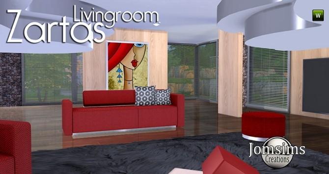 Sims 4 ZARTAS livingroom at Jomsims Creations