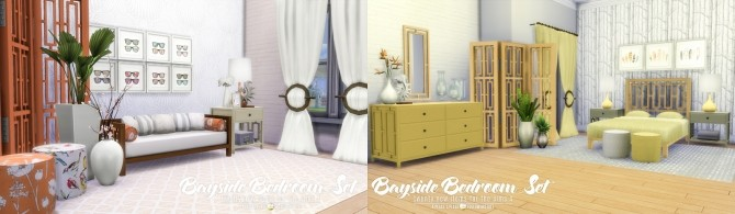 Sims 4 UPDATED Bayside Furniture Set 20 new items at Simsational Designs