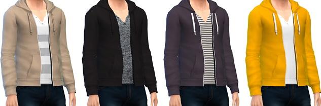 Sims 4 Men's Zip Up Hoodies at Marvin Sims