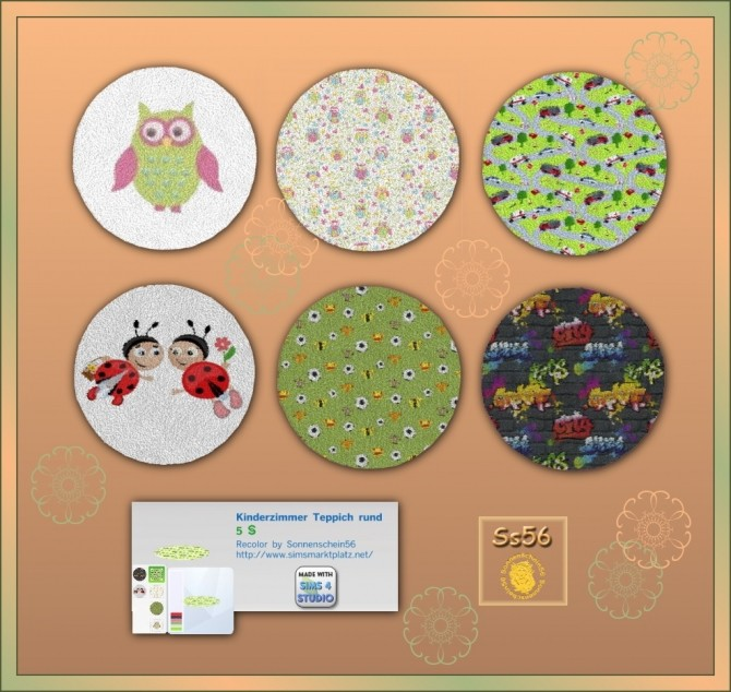 Sims 4 Round rugs for kids by dorosimfan1 at Sims Marktplatz