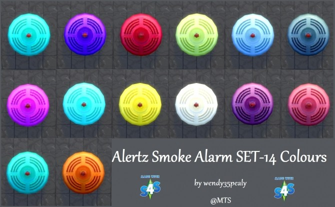 Alertz Smoke Alarm 14 Colours by wendy35pearly at TSR image 612 670x414 Sims 4 Updates