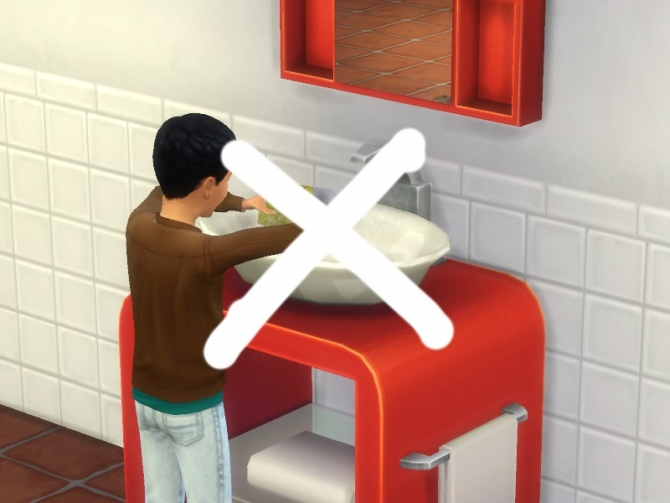 No Dishes In Bathroom Sinks By Plasticbox At Tsr 187 Sims 4