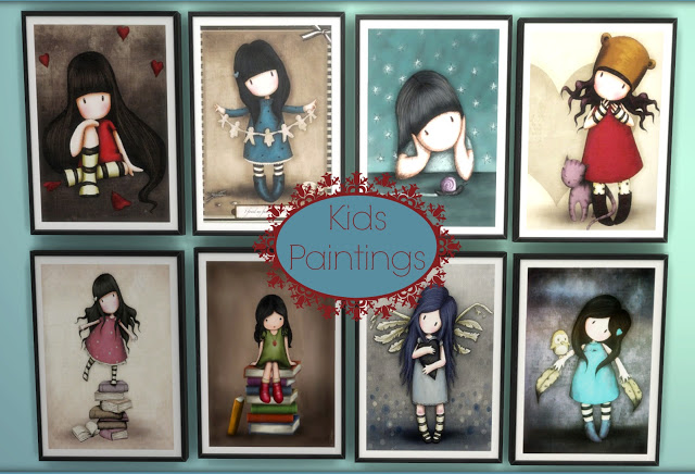 Sims 4 Kids Paintings 101 at Dinha Gamer