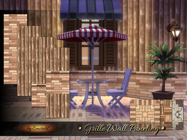 Sims 4 Grille Wall Paneling by emerald at TSR