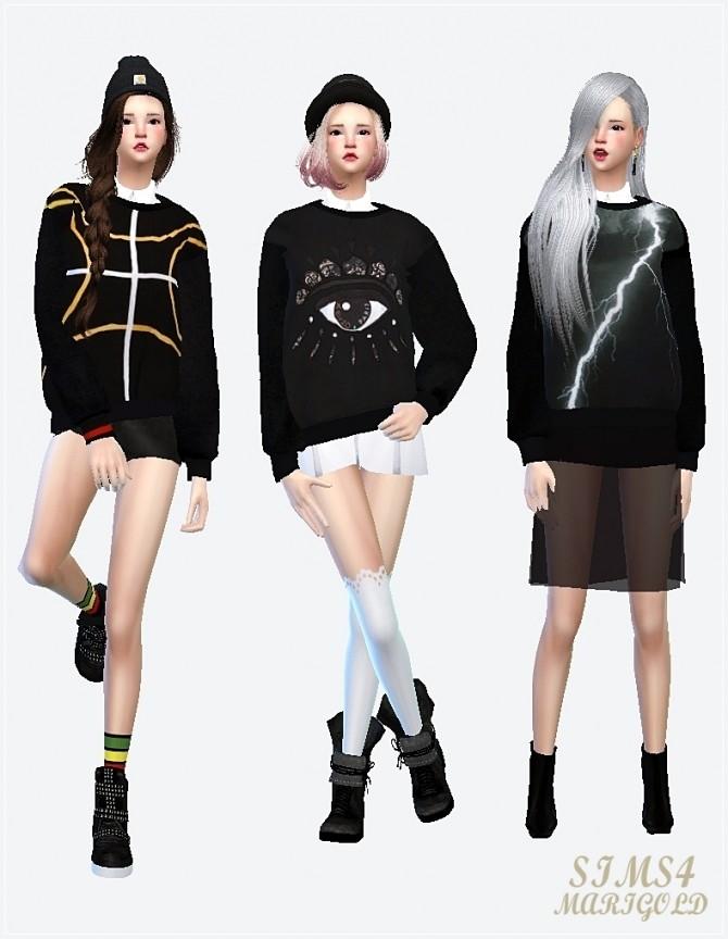 Sims 4 Neoprene sweat shirt F at Marigold