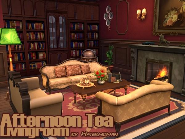 Afternoon Tea Livingroom By Waterwoman At Akisima Sims 4 Updates