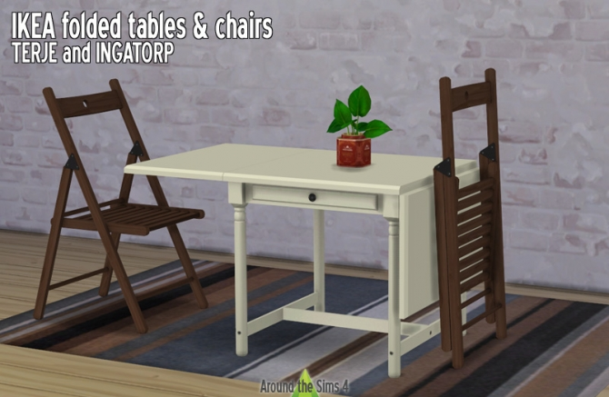 Ikea folded furniture by sandy at around the sims 4 sims 4 updates - Petite table basse ikea ...