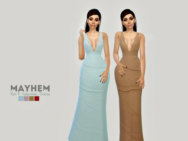 Sims 4 Kim K Dress by NataliMayhem at TSR