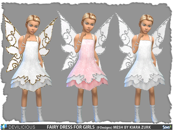 Fairy Dress For Girls By Devilicious At Tsr 187 Sims 4 Updates