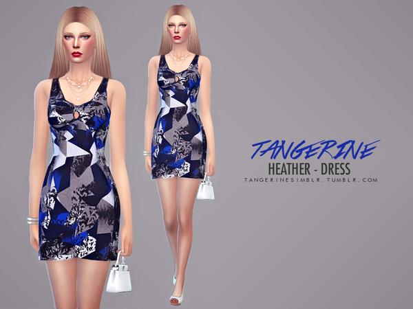Sims 4 Heather Dress by tangerinesimblr at TSR