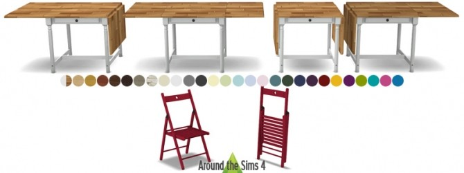 Sims 4 IKEA folded furniture by Sandy at Around the Sims 4