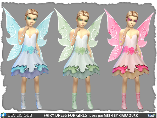 Fairy Dress for Girls by Devilicious at TSR image 67 Sims 4 Updates