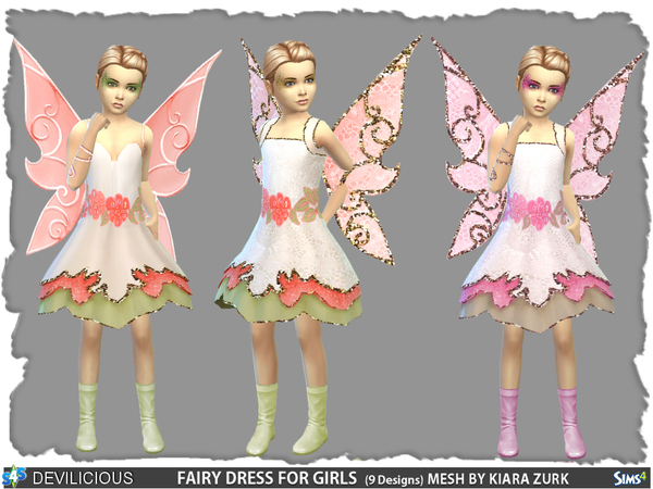 Fairy Dress for Girls by Devilicious at TSR image 68 Sims 4 Updates