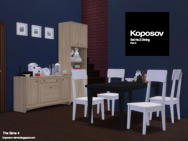 Set No.3 Dining Part 3 at Koposov image 682 Sims 4 Updates